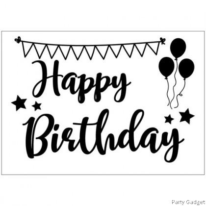 *A4* Balloon Sticker **18 inch 20 inch 24 inch Bobo** ~ Happy Birthday Design 8 ~ customized balloon sticker
