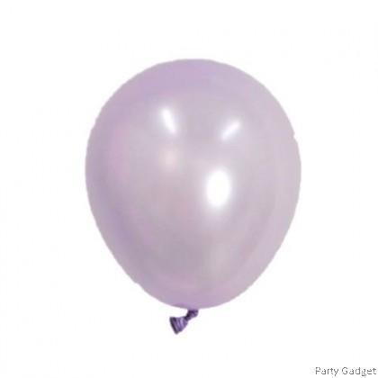 [10pcs] 5 inch Metallic Light Purple Small Latex Balloon