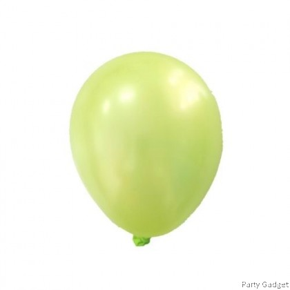 [25pcs] 5 inch Metallic Apple Green Small Latex Balloon