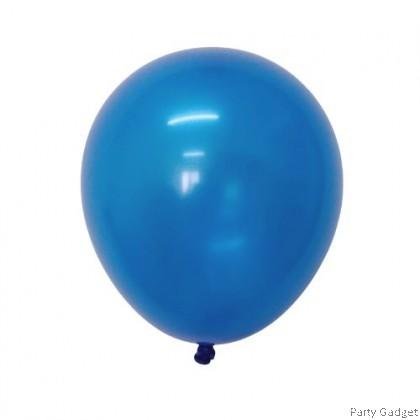 [100pcs] Fasatex 5 inch Metallic Dark Blue Small Latex Balloon