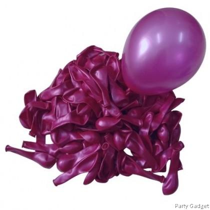 [100pcs] Fasatex 5 inch Metallic Fuchsia Small Latex Balloon