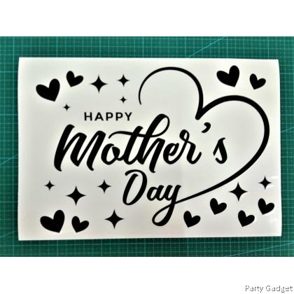 *A4* Balloon Sticker | Happy Mother's Day Design 1 | Black Balloon Sticker