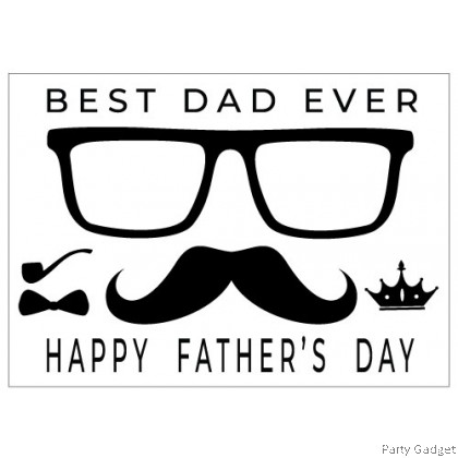 *A4* Balloon Sticker | Happy Father's Day Design 3 | Black Balloon Sticker