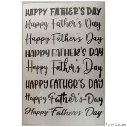 *A4* Balloon Sticker | Happy Father's Day 8 in 1 Design 1 | Black Balloon Sticker