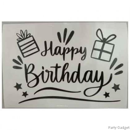 *A4* Balloon Sticker | Happy Birthday Design 14 | Black Balloon Sticker