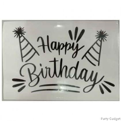*A4* Balloon Sticker | Happy Birthday Design 15 | Black Balloon Sticker
