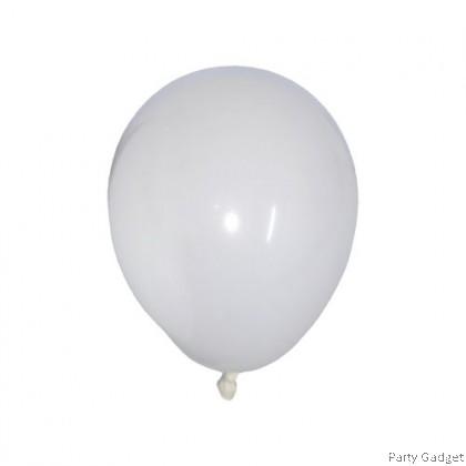 [100pcs] 5 inch Standard White Round Small Latex Balloon