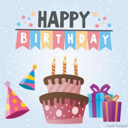 [10pcs] Happy Birthday Wish Card | Greeting Card | Gift Card | Blue Snow Theme