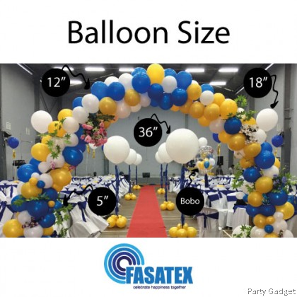 [1pcs] Fasatex 18 inch Macaron Peach Round Latex Balloon
